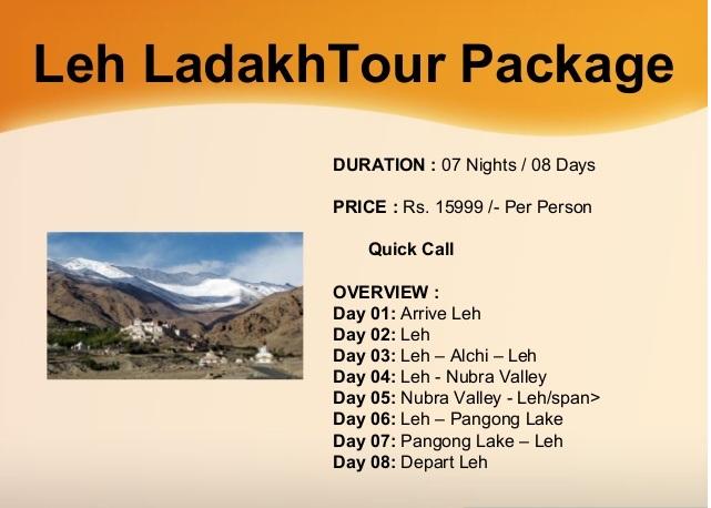Leh Tours From Mumbai